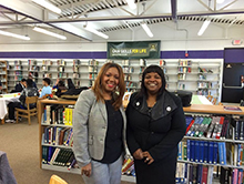 Brenda Carter and Superintendent Kelley Williams